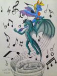 Birthday Gift: Me and the Music by DragonDrawer102