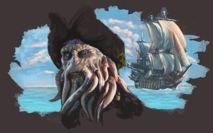 Davy Jones and Flying Dutchman by AnnaP-Artwork
