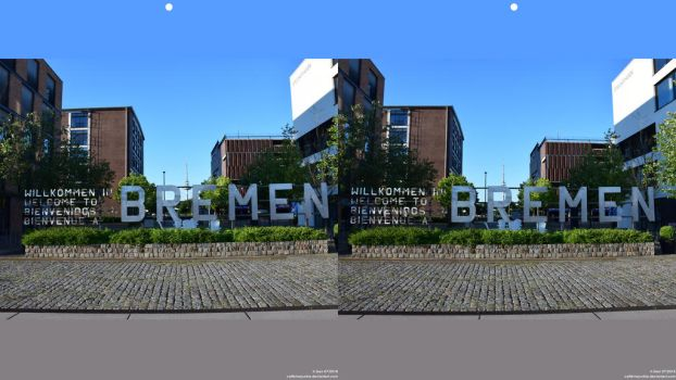 Welcome to Bremen (Stereographic Image) by caffeinejunkie
