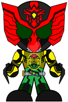 Kamen Rider OOO Super-TaToBa by Zeltrax987