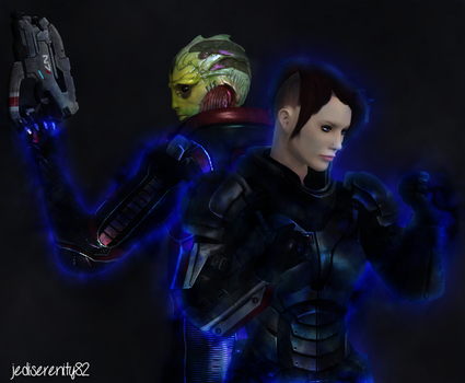 Protege - Thane Krios and Zara Shepard {ME} by jediserenity82