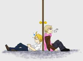 APH-Humming Through the Door by Teddie-Chan