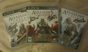 My Signed AC Games by MikuLance382