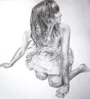 Pencil drawing of a girl by EleanorAnsell