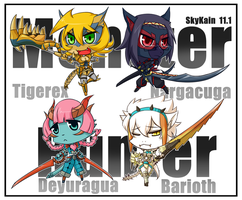 Chibi MH-Wyvern Girls by SkyKain