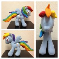 Rainbow Dash Plush v6 by Aleeart7