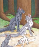 Bluestar's Family 2 by Mudstar-Sibera