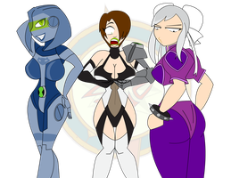 Omnitrix Mishaps - Game Girls by Dragon-FangX