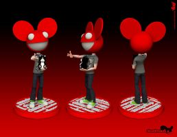 Deadmau5 Bobblehead by t-Pee