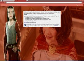 Lucy Pevensie Theme for Chrome by pinklilac2