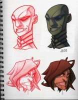 RK Head Sketches by Javas