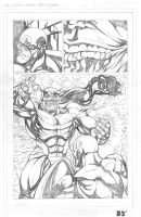 Captain America vs Thanos 2of3 PENCILS by ZUCCO-ART