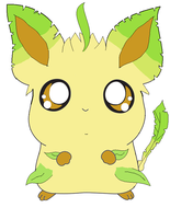 Leafeon as Hamtaro by Wingathon