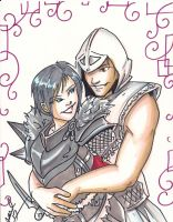F. Hawke and Altair by Jovianwolfgirl