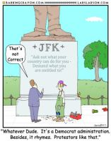 JFK Cartoon by Conservatoons