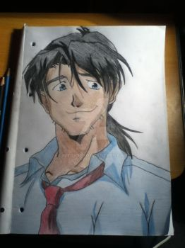 Ryoji Kaji In Colour EVANGELION by MITCH959