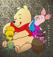 Pooh and Piglet by jovee