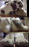 Canadian Lynx fursuit feet by DreamVisionCreations