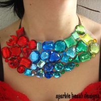 Colorful Rhinestone Collar by Natalie526