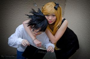 Death Note: You're Mine! L and Misa by Ninja-Dee
