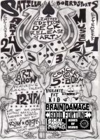 SB Art Show and Concert Flyer by BassZombie