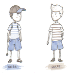 Ness and Lucas by ozwalled