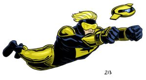 Booster Gold and Skeets by dennisculver