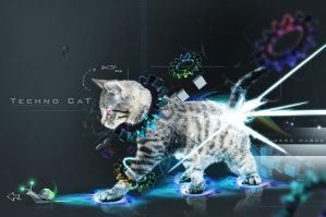 Techno Cat by dewamabok