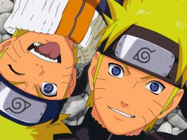 Naruto yesterday and tomorrow by freaky135