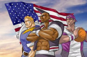KOF USA team by mrvo