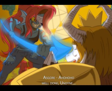 Undertale_Undyne's Victory by TFSubmissions