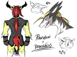 Ranshiin and Drachaeus Doodles by Raccooncube