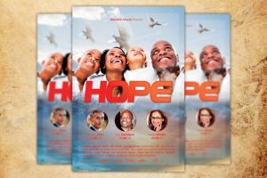 Hope Sermon Church Flyer Template by loswl