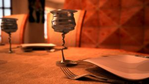 Focus on the table by Zairaam