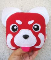 Red panda plush by manriquez