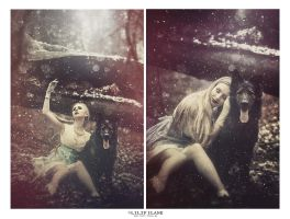 the girl and the wolf by LilifIlane