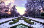 Madrid park in the winter by SebKaiser