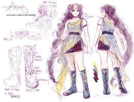 Outfit Sketch- Artemis by zeldacw