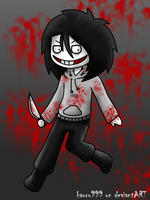 Chibi Commission: Jeff the killer by KaeLikesCheesecake