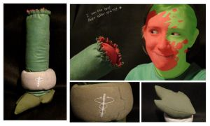 Caliborn Leg Plushie by EddieDoezSewing