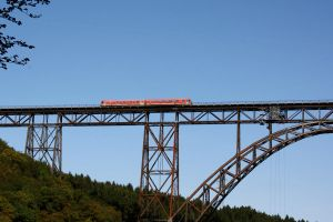 Small Train on Huge Bridge by ZCochrane
