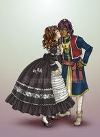 Lady Leonie and Prince Soma by Michelangeline