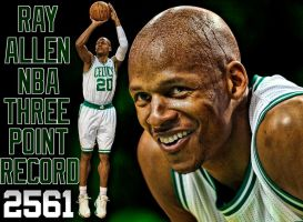 Ray Allen Three Point Record by rhurst