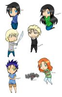 City of Glass chibis by its-teh-chibi
