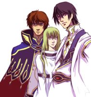 Code Geass Final Trio by marrten