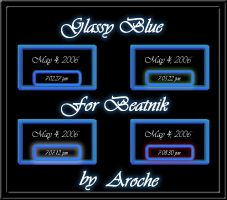 Glassy Blue Beatnik by aroche