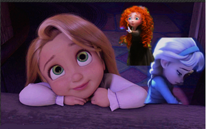The Brave Frozen Tangled girls: Sleepover by adoptable-Sassy