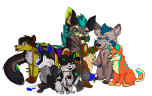 My furry family by Limeskittle
