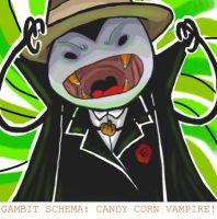 CANDY CORN VAMPIRE by hydrokarbon