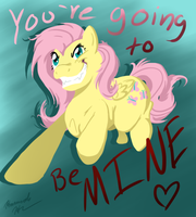Be Mine Fluttershy by Blemy